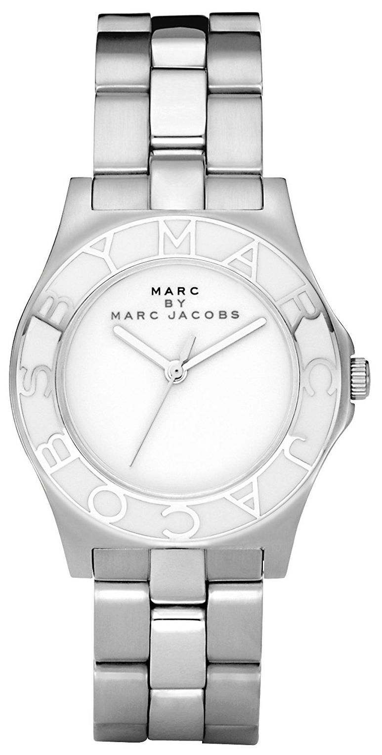 Marc by Marc Jacobs Blade Dameur MBM3048 Hvid/Stål Ø36.5 mm