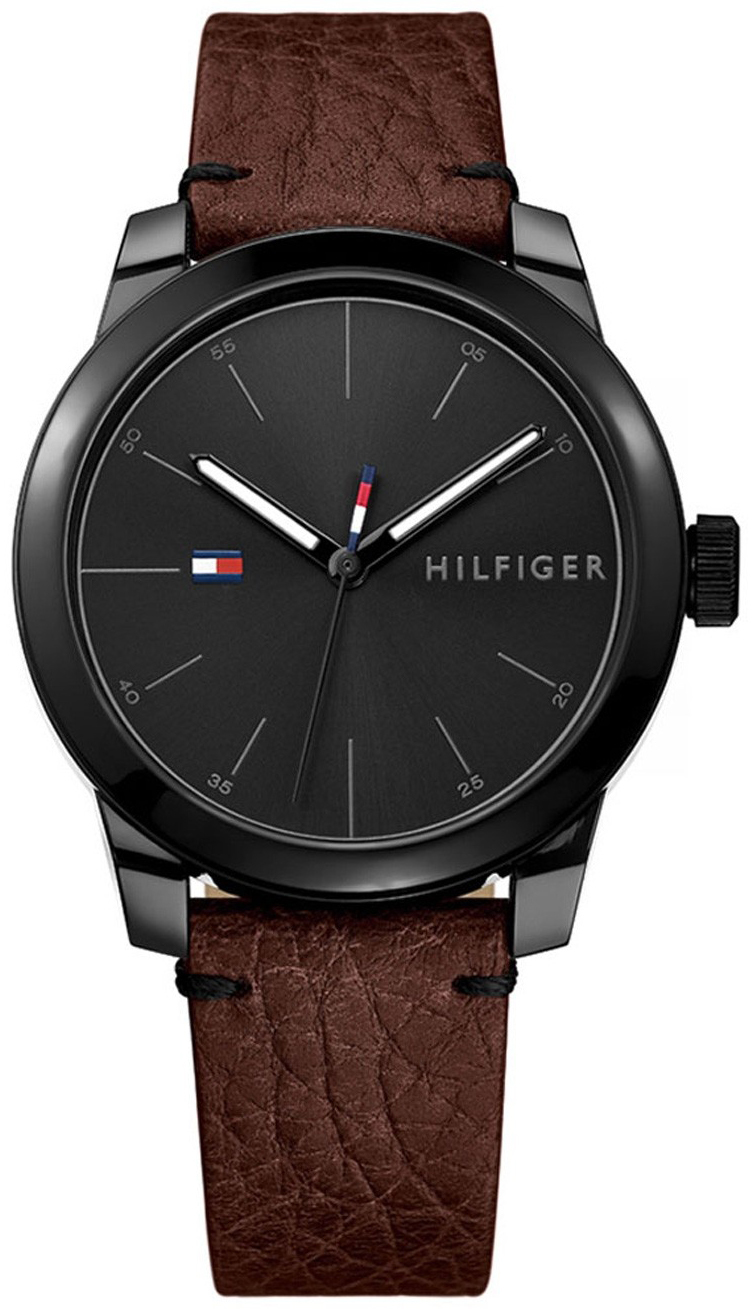Tommy Hilfiger Dress Herreur 1791383 Sort/Læder Ø42 mm