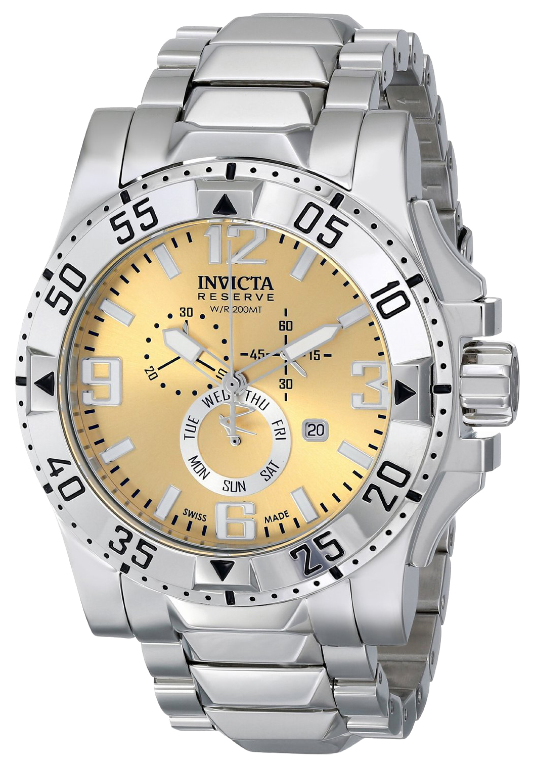 Invicta Excursion Herreur 15311 Guldfarvet/Stål Ø49.5 mm