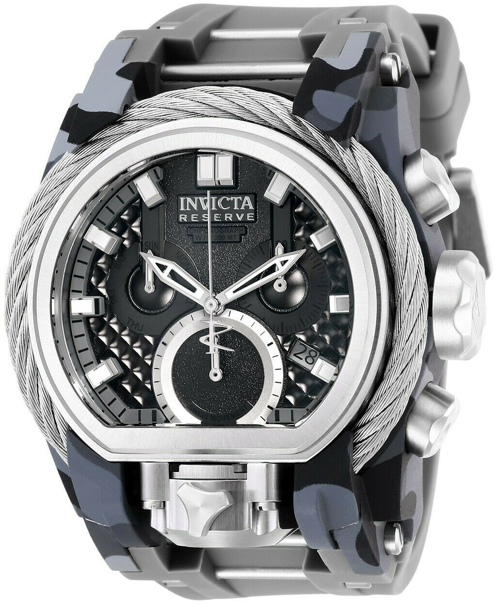 Invicta Reserve Herreur 26439 Sort/Gummi Ø52 mm