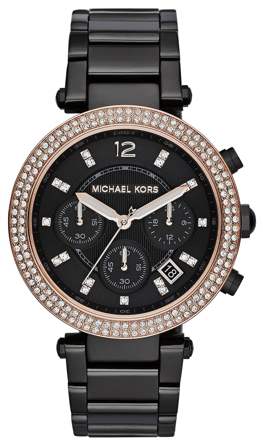 Michael Kors Parker Dameur MK5885 Sort/Stål Ø39 mm