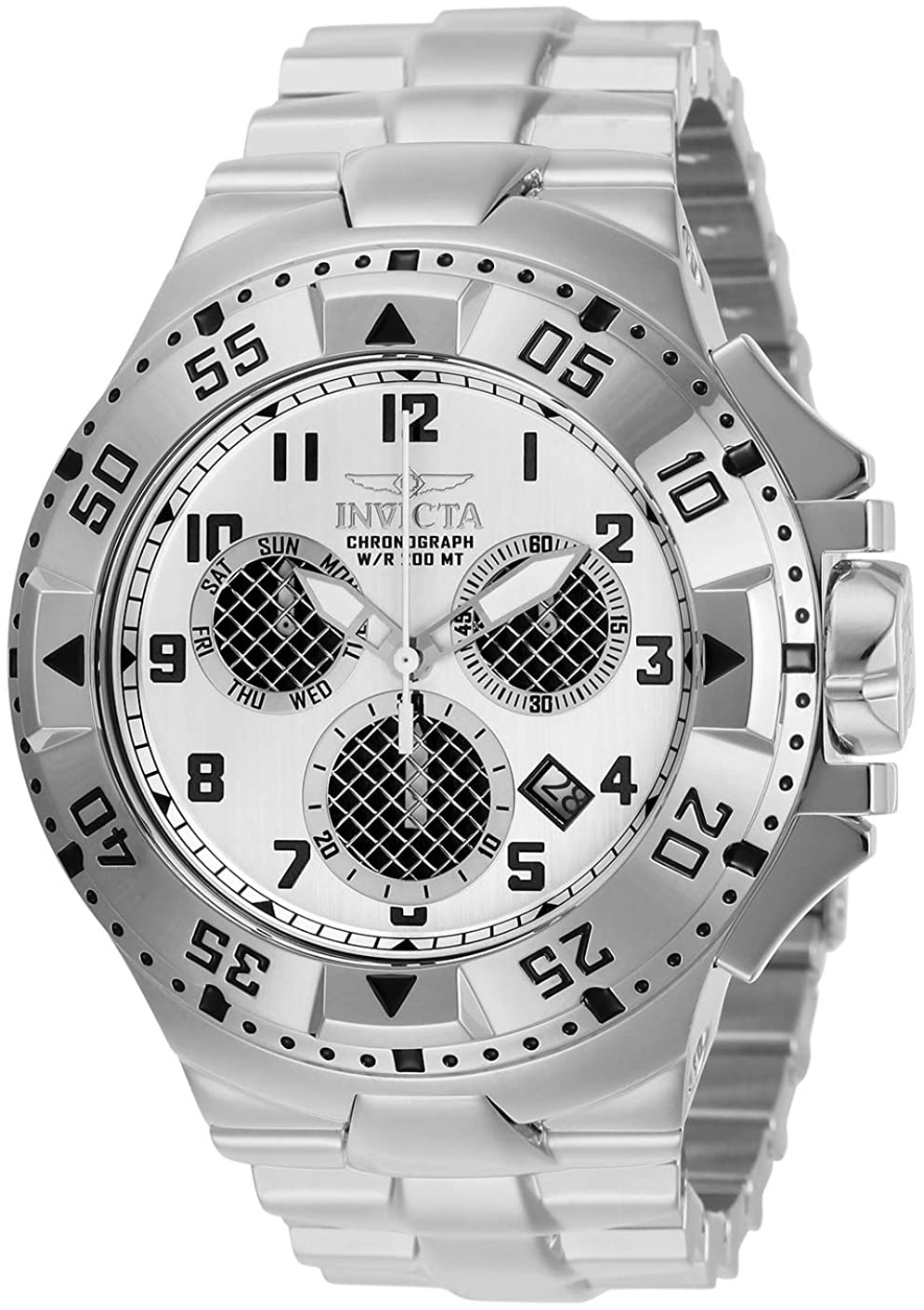Invicta Excursion Herreur 29719 Sølvfarvet/Stål Ø50 mm
